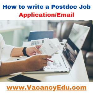 How to write a Postdoc Job Application