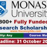 Monash University Scholarships 2021-22 in Australia