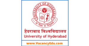 Senior Research Fellow(SRF) Positions at University of Hyderabad, Telangana, India