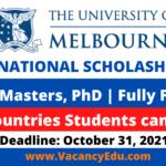 University of Melbourne Scholarships 2022 in Australia Fully Funded