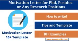 How to Write a Motivation Letter for PhD, Postdoc, or Any Position: Sample Motivation Letter