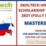 Skoltech University Scholarship in Russia 2021