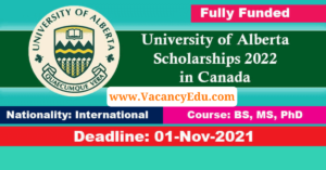 University of Alberta Scholarships 2022 in Canada  