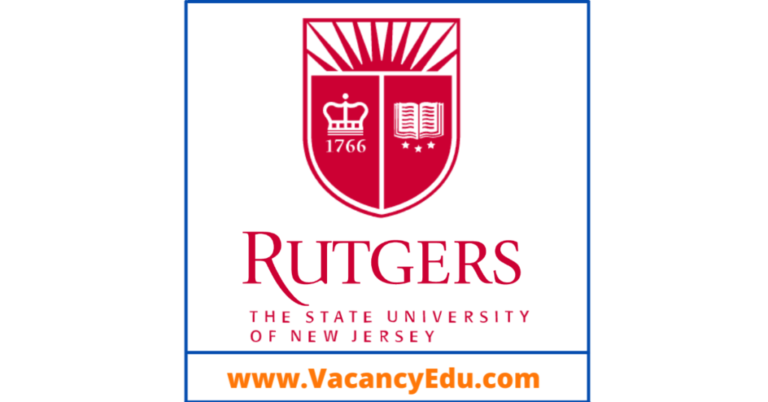 Postdoctoral Fellowship at Rutgers University, New Jersey, United States